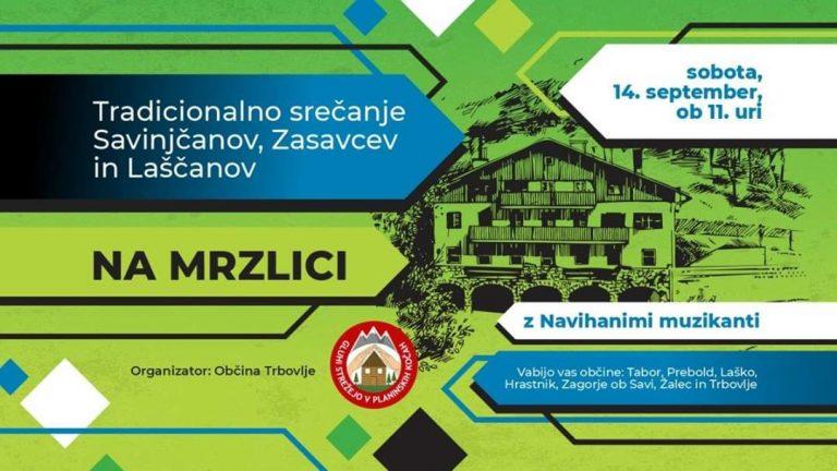 14. september ob 11.00 – Tradicionalna srečanje Savinjčanov, Zasavcev in Laščanov na Mrzlici